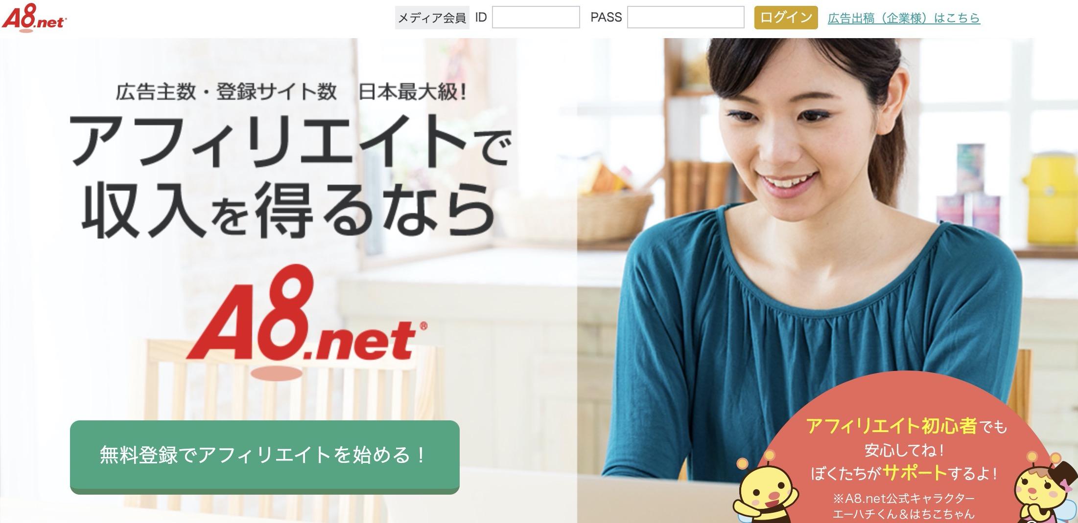 ブログ初心者におすすめのasp①A8.net