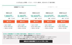 おすすめの有料画像サイト料金